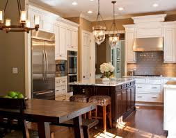 ... Beautifully Illuminated Kitchen Sports A Couple Of Cool Pendant Lights  Lowes Kitchen Pendant Lighting ...