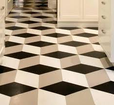 black vinyl sheet flooring stylish design ideas kitchen linoleum modern floors patterns and white diamond checd