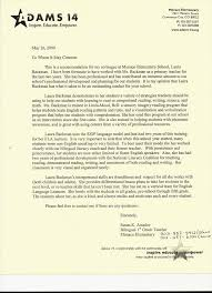 sample letter of recommendation for teaching position letter of recommendation from elementary school teacher susan k