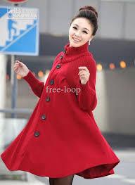 best elegant women winter wool coats plus size grey warm cotton