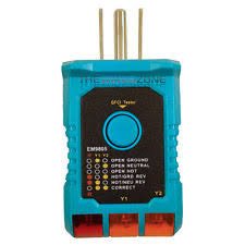 gfci plug electrical 3 wire receptacle gfci outlet wall plug socket tester 125 volt