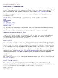 Elements Of A Business Letter Mail Letter Case