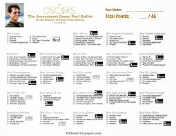 How To Make Ballots On Microsoft Word Fxrant Oscar Pool Ballot 87th Academy Awards