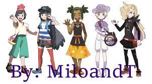 Pokemon Sun And Moon Design Pokemon Sun And Moon Genderbend By Miloandt On Deviantart