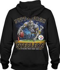 Black End Nfl Liquid Zone Steelers Hoodie Blue Pittsburgh