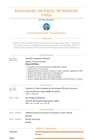 Assistant Engineer Resume Samples Visualcv Resume Samples Database