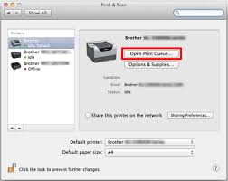 The Printer Status Is Offline Or Paused For Macintosh Brother