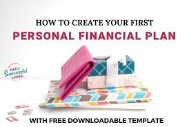 personal plan template free personal financial plan template