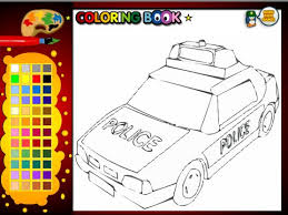 Police Cars Coloring Pages For Kids Police Cars Coloring Pages
