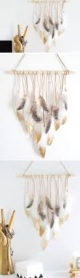 feather wall hanging via homeyohmy feather wall hanging pic for 21 diy bohemian bedroom decor ideas for teen girls