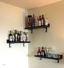 bar wall shelves anniverary home mounted glass for liquor bar wall shelves