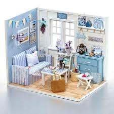 House Diy Miniatura Wooden Dollhouses Furniture Miniature