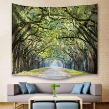 oak lane tree forest tapestry wall hanging
