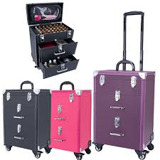 dels about large capacity women makeup trolley cases beauty tool storage box portable cases
