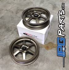 launch 15x3 5 drag racing wheels 4x100 lug pattern black or bronze