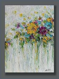 abstract painting of flower acrylic flowers abstract painting done with palette knife on canvas title beauty