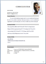 Latest Resume Format Resume