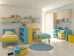 yellow bedroom furniture. Cool-blue-yellow-and-gray-bedroom-kid Yellow Bedroom Furniture