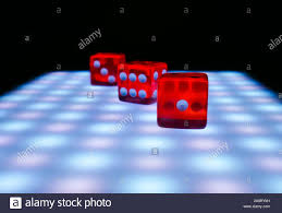 Dice With Lights Red Dice On A Table With Neon Lights Conepia Of Board Games