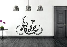 black wall art bicycle grey color stickers contemporary giant fl vintage tapestry sculpture decals black and white wall decor for bedroom
