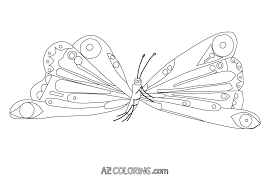 Coloring Pages Hungryterpillar Butterfly Coloring Page New