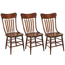oak pressed back chairs for