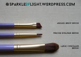 sparkleoflight makeupaddiction glam me up eye set brushes angled brow precise eyeliner large concealer brush set