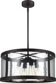 feiss f3199 4orb harrow oil rubbed bronze drum pendant lighting loading zoom