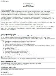 Civil Service Resume Templates Best of Civil Service Cv Template Customer Service Cv Sample24 Templates