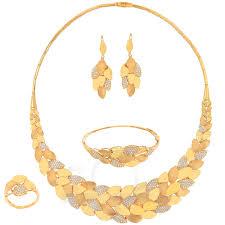 Dubai Gold Designs Catalogue Full Set A5586 Full Sets 21k Jewellery Gold Collection