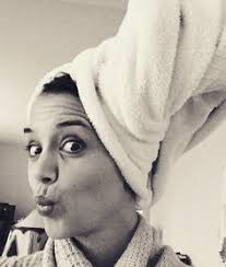 pick me katie holmes posted this fun selfie with her hair wrapped in a towel captioned can i be a part of the a shout out to the iconic celebrity