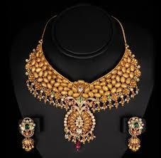 Gold Jadtar Set Design Gold Necklace Antique Jadtar Gold Pendant Set Wholesale