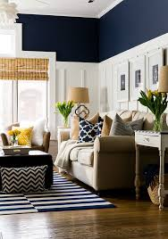 navy brings elegance to this room while incorporating it in these patterned accessories