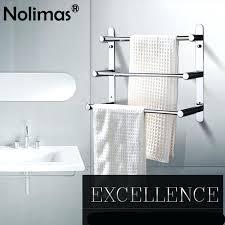 modern towel holder. Modern Towel Holder Brief Stainless Steel Surface Three Layers Bathroom Rack Round Bar
