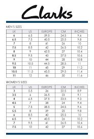 Clarks Size Chart Uk Www Bedowntowndaytona Com