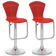 corliving b 252 vpd tapered full back adjule bar stool red leatherette set of 2