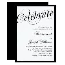 Retirement Luncheon Flyer Elegant Black White Retirement Party