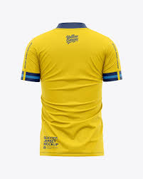 This apparel mockup provides front and back views of a. Men S Soccer Jersey T Shirt Mockup Back View In Apparel Mockups On Yellow Images Object Mockups