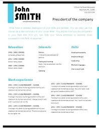 How To Do A Professional Resume For Free Free Professional Resume