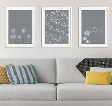 grey dandelion print picture home