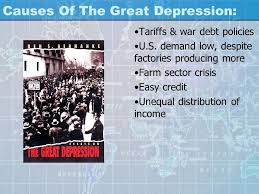 the great depression begins ppt  22 causes of the great depression