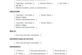Sample Resume Basic Easy Sample Resume Format Sample Resume Word ...