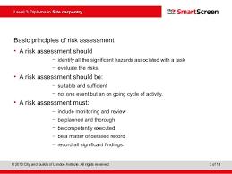 c g powerpoint risk assessment 3 level 3 diploma
