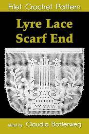Crochet Pricing Chart Lyre Lace Scarf End Filet Crochet Pattern