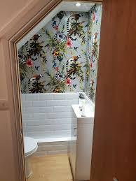 fancy downstairs toilet wallpaper ideas
