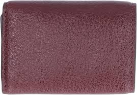 michael kors money pieces small flap over leather wallet red purple or g