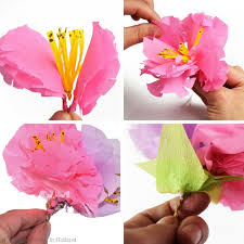 How To Make A Flower Out Of Paper Step By Step How To Make Paper Flowers Step By Step Easy Tutorial