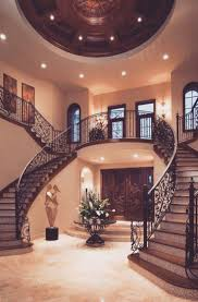 Twin staircase design is a classic that never fails in the grand  Mediterranean villa - Decoist