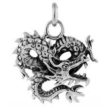 details about 12 5 gram sterling silver chinese dragon pendant