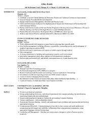 Core Manager Resume Samples Velvet Jobs